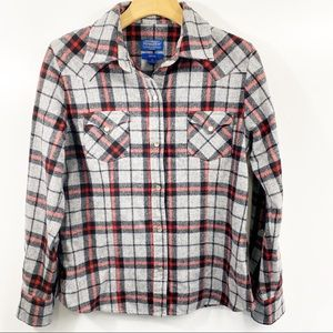 Pendleton Western Snap Front Fitted Flannel